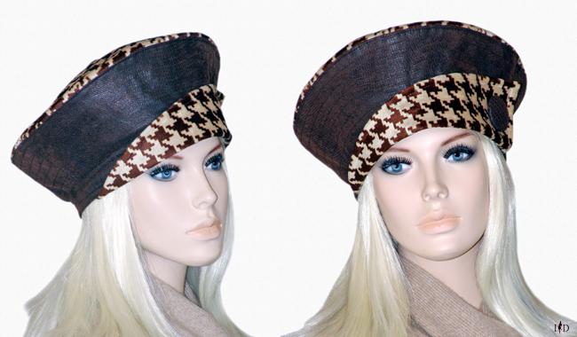 Damenmütze aus Leder