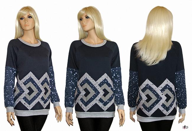 Women Patchwork Sweatshirt 3D Design,