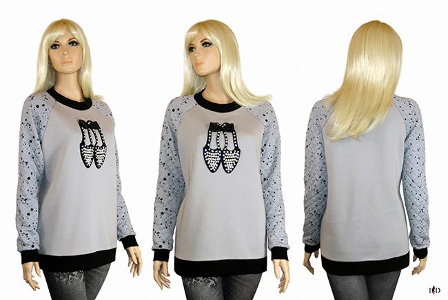 Damen Sweatshirt mit 3D Applikation Portfolio