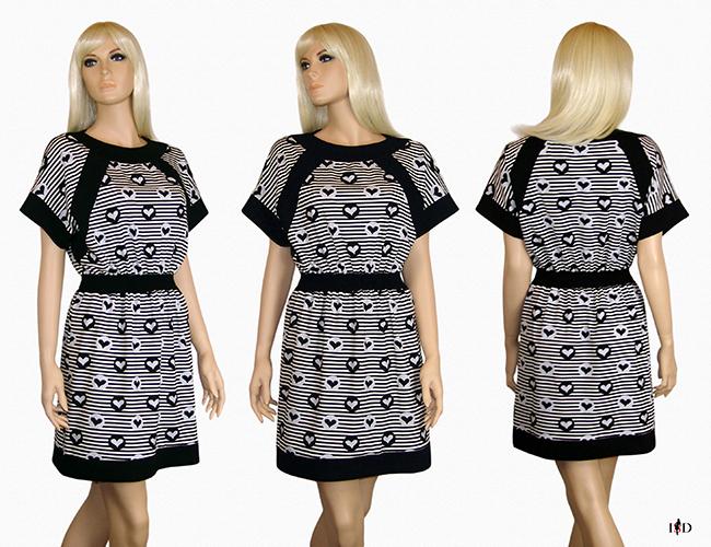 Jersey  Blenden Kleid gestreift