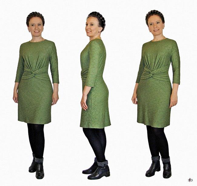 drape jersey designerkleid