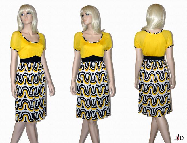 Retro-Dessin-Kleid