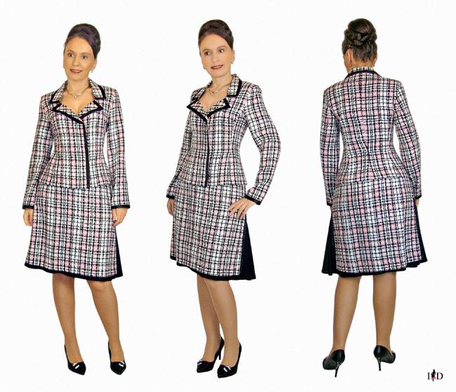 tweed kostüm doppelrock  portfolio