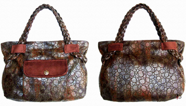 Kroko-Lederimitat Tasche