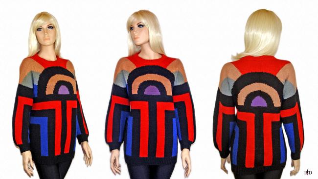 pullover jacquard,grafikmuster
