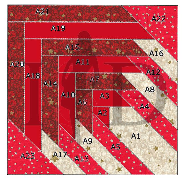 patchworkmitteldecke schablone