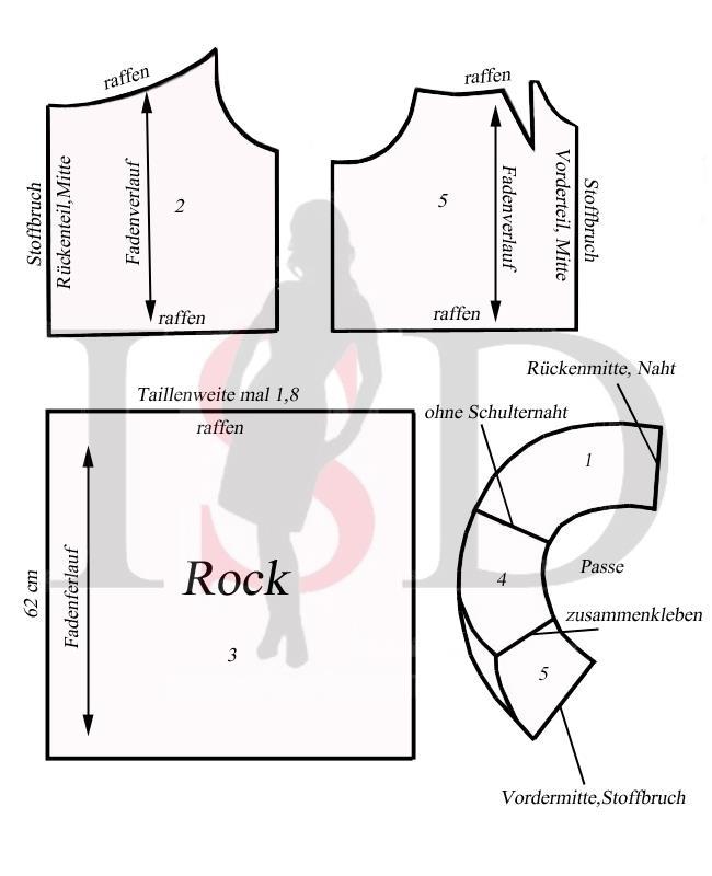 Schnittmuster- Kleid