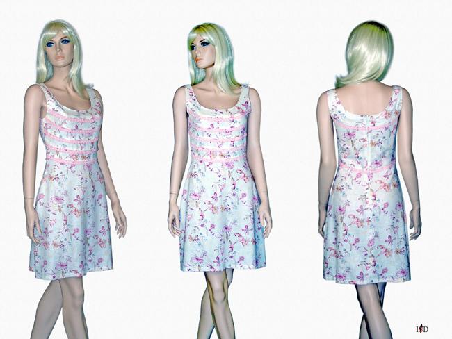 Viskose-Leinen Sommerkleid