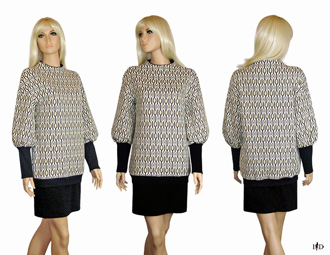 pullover retro look tapetenmuster