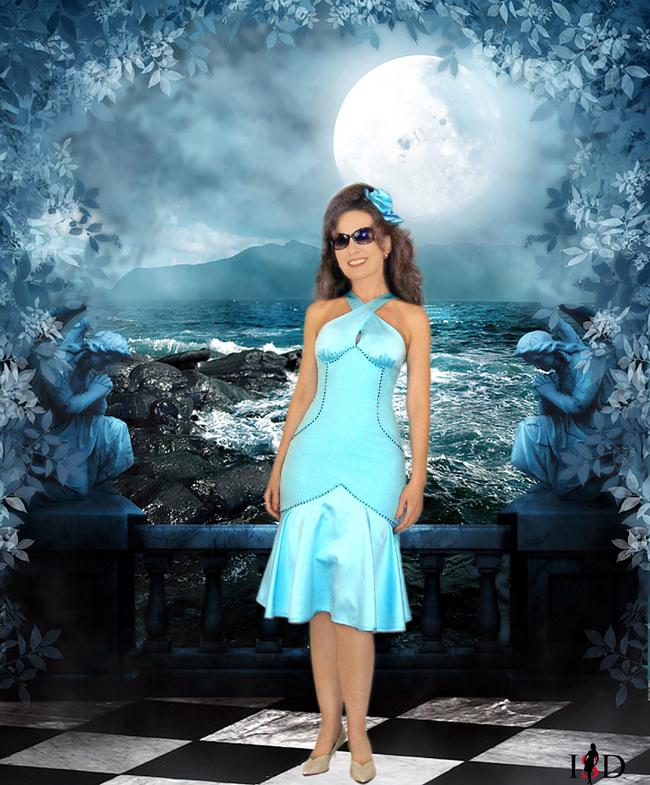 Abendkleid türkisblau,strass