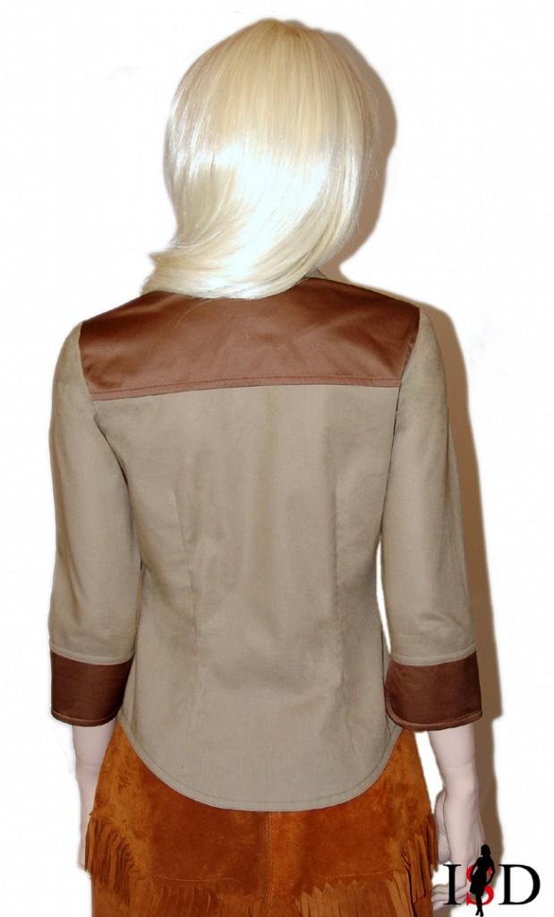 Bluse in Khaki