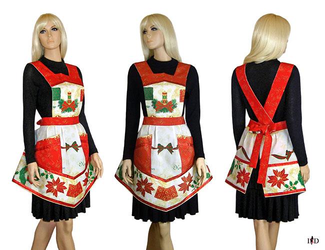 designer vintage schürze weihnachten