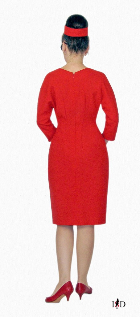Retrokleid in Rot