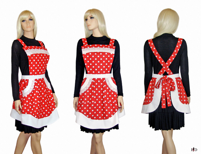 polka dots retro küchenschürze