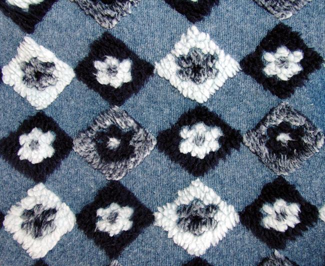 fleece blau geblümt