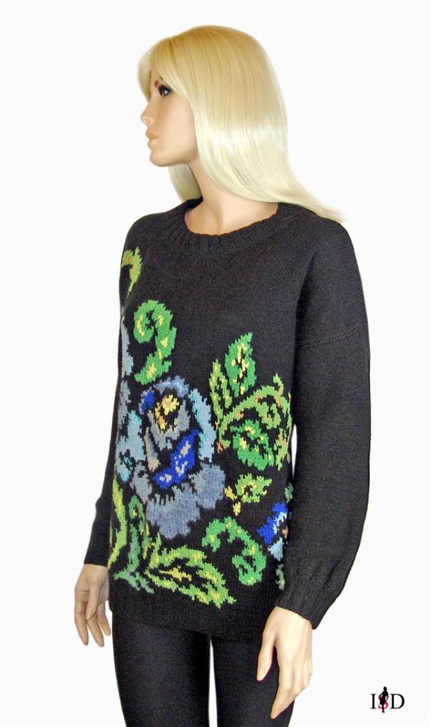 jacquard pullover rosenmuster2