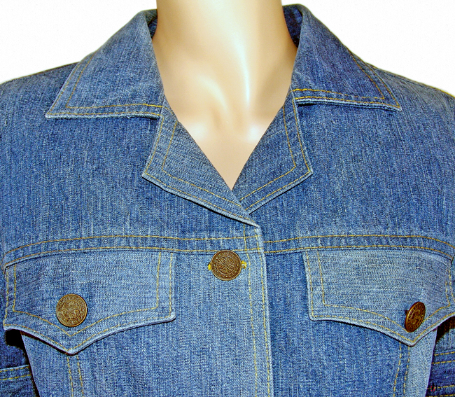 upcycling jeansjacke details