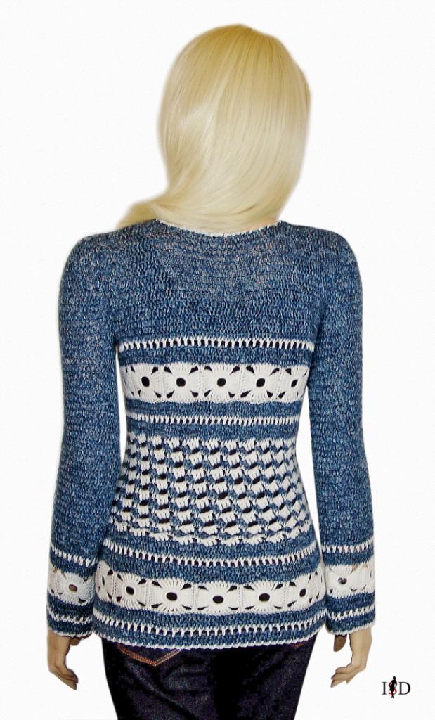 häkelsweater blaujeans