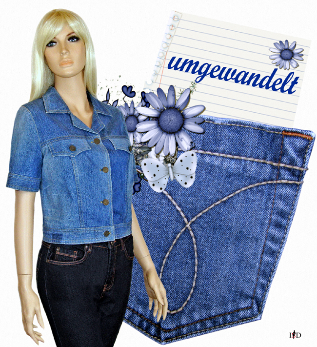 upcycling-Jeansjacke