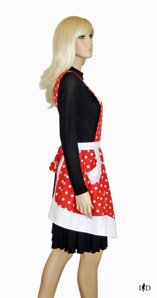 retro schürze polka dots rot weiß