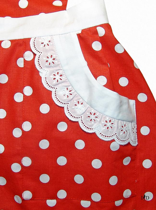 retro schürze polka dots details