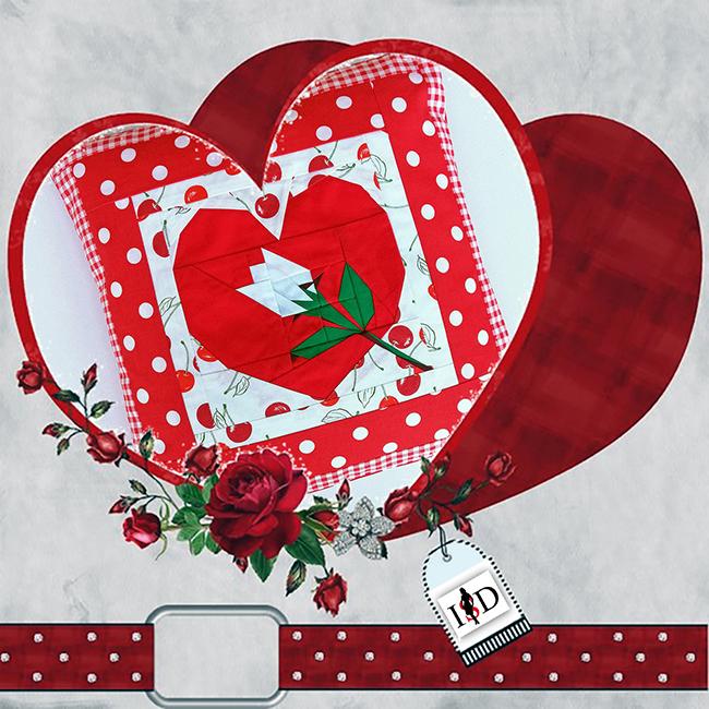 valentines day patchkissen