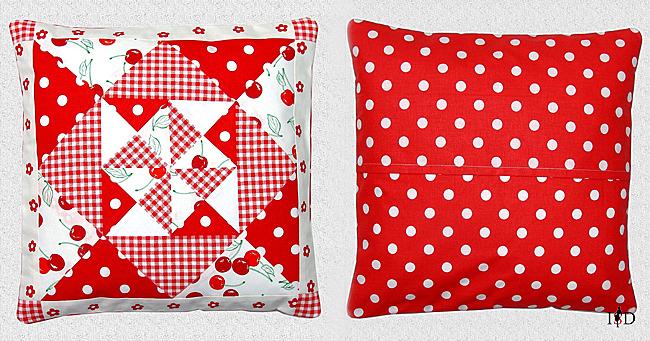 patchkissen rot/weiß