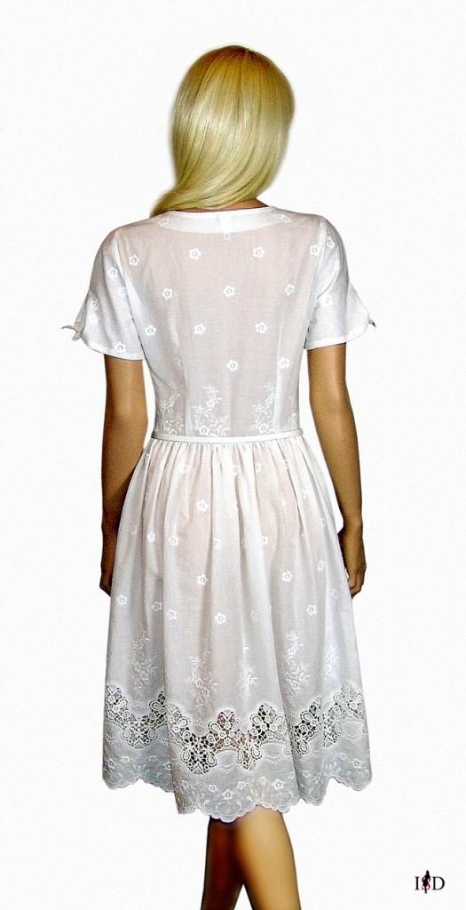 landhauskleid spitze weiß