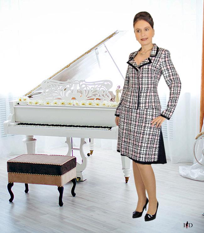 tweed kostüm doppelrock