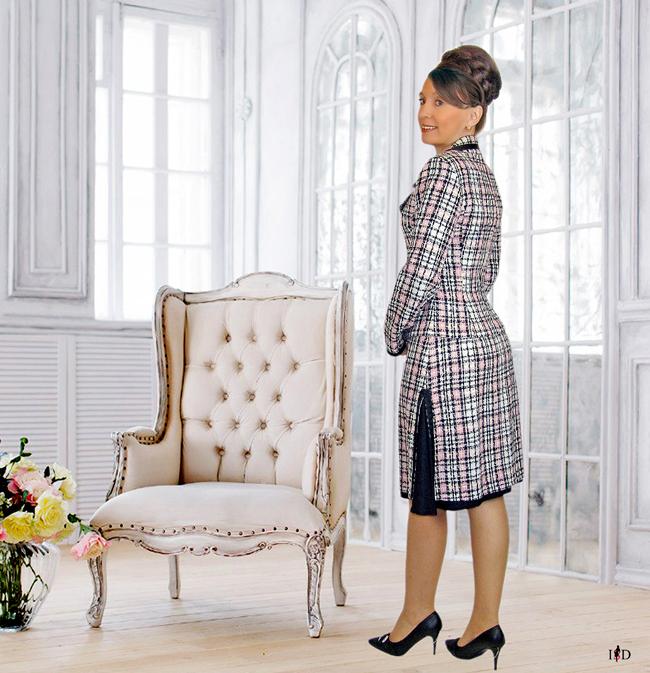 tweed kostüm  mit doppelrock1