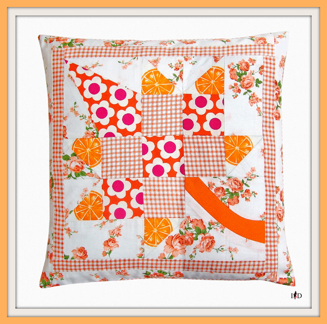 patchwork kissen ahornblat1