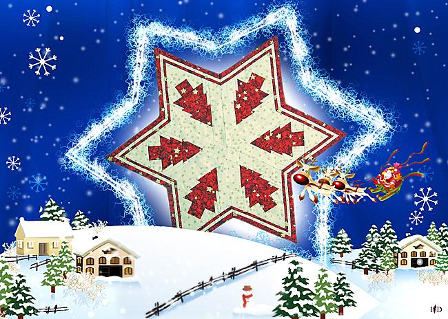 mitteldecke weihnachtsstern