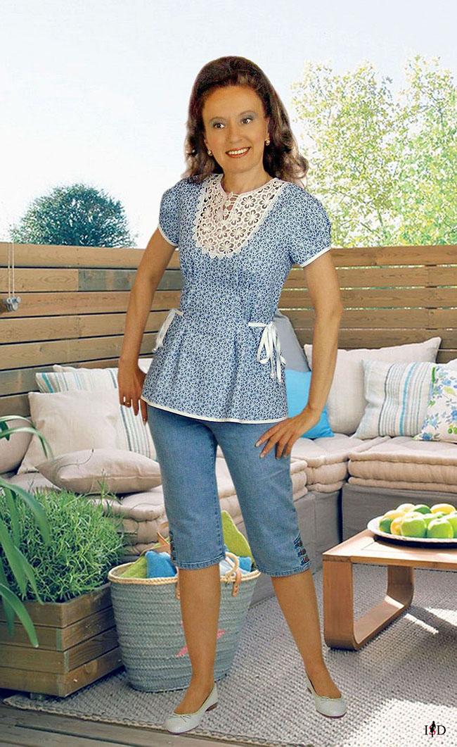 Designer sommer jeans Bluse