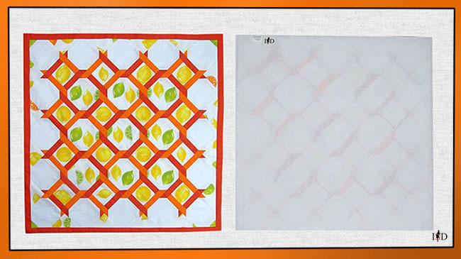 patchwork mitteldecke zitrone