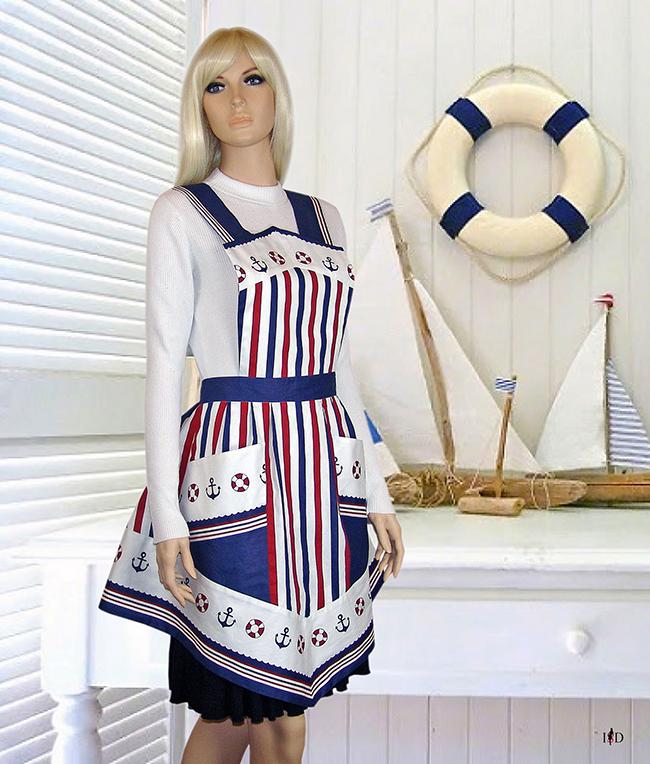 vintage schürze maritim