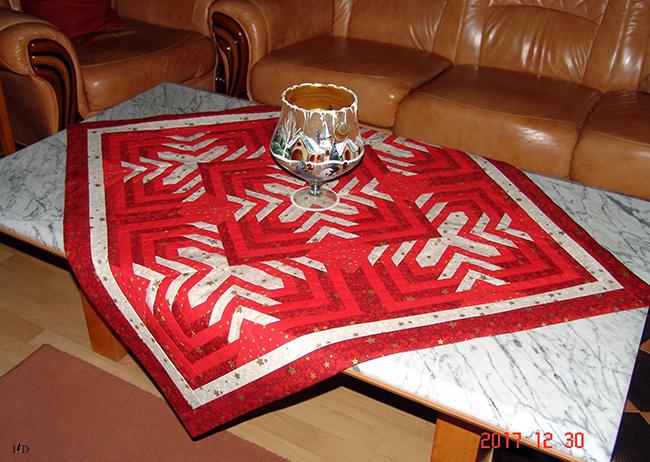 patchwork tischdecke weihnachten