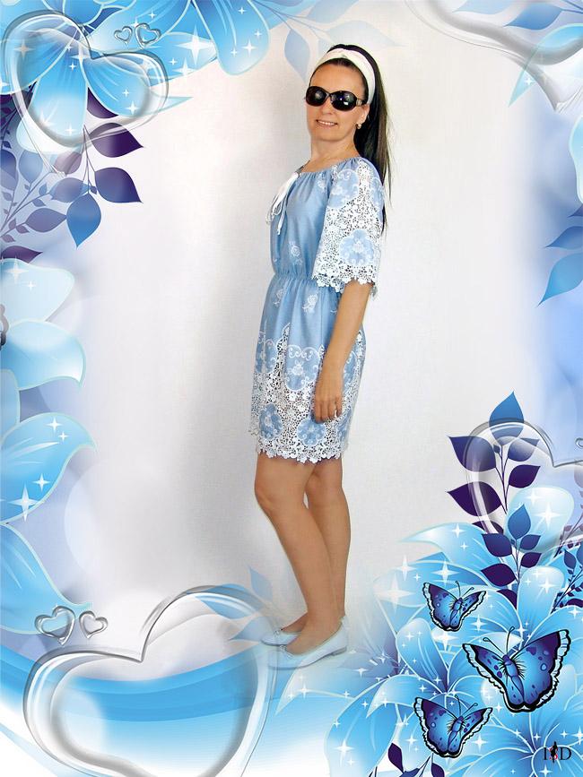 designer Sommer Jeans Spitzenkleid