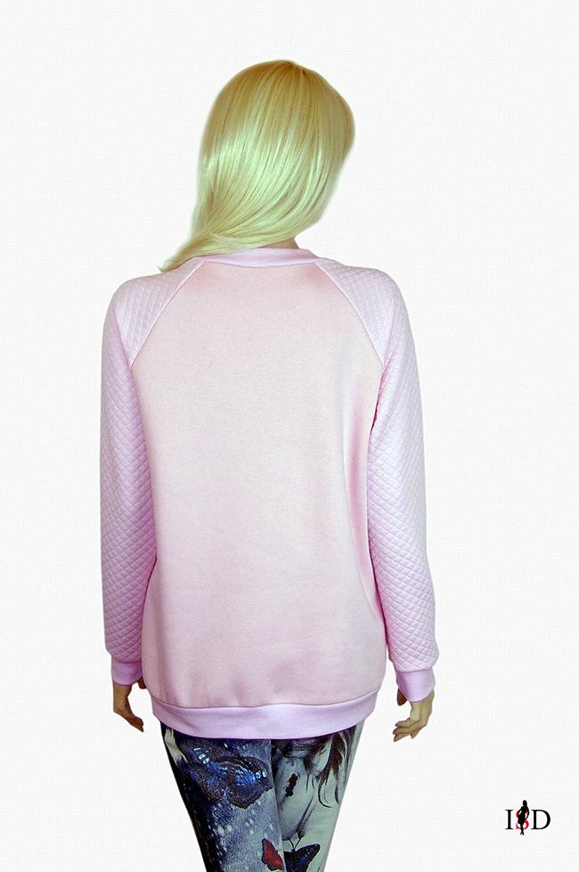 designer rosa stickerei sweatshirt