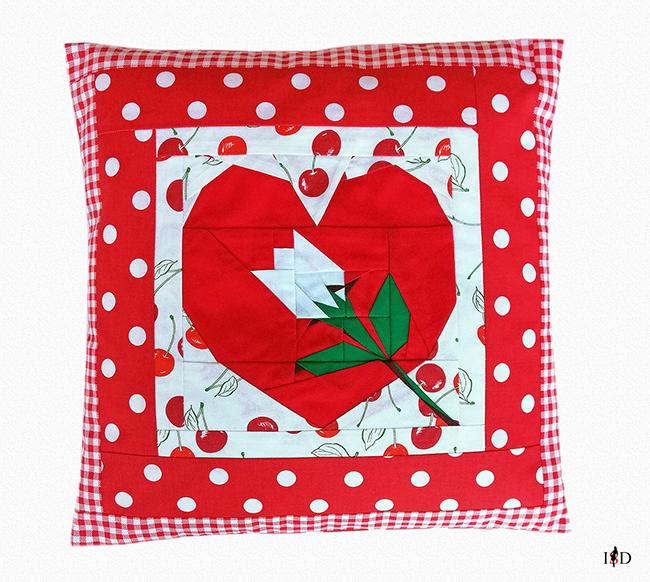 patchwork kissen happy valentines day