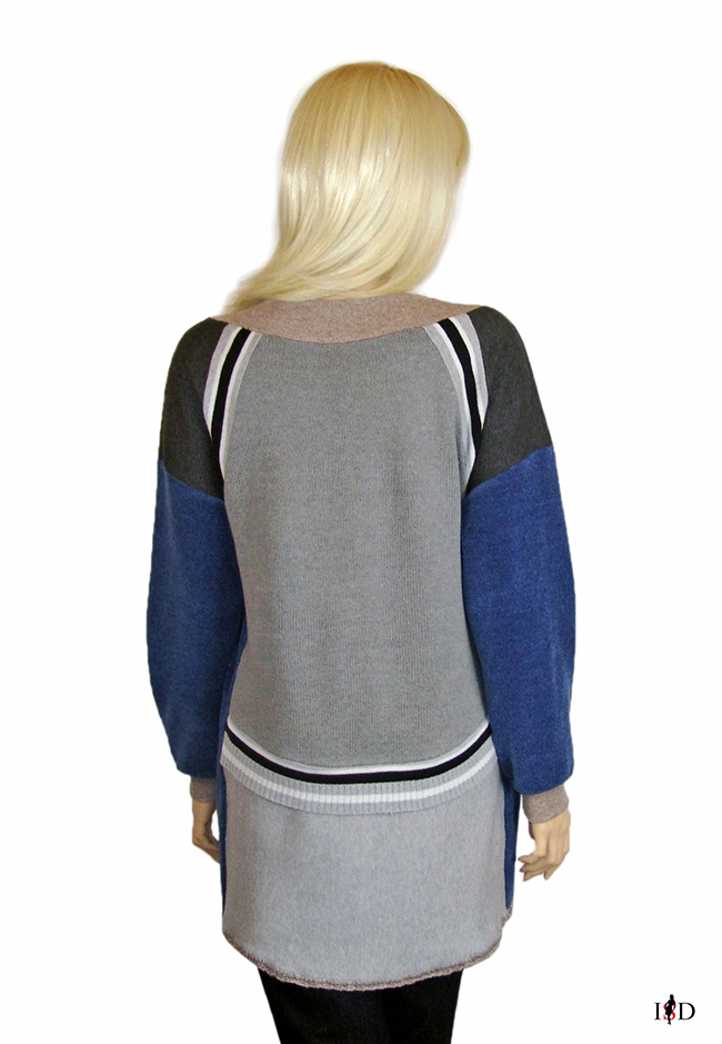 patch sweater 3d applikation rückenansicht