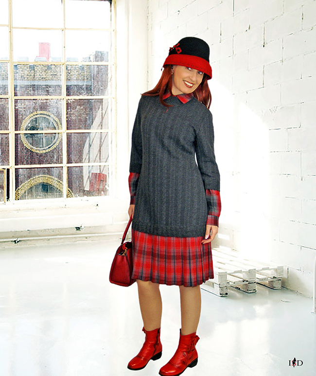 designer lagenlook pulloverkleid