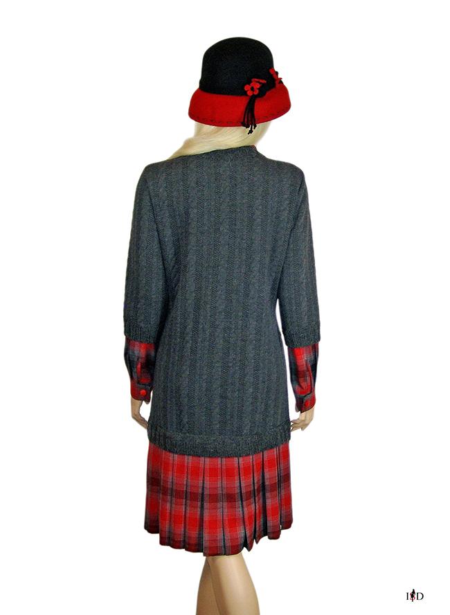 designer pulloverkleid im lagenlook