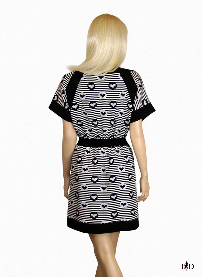 Jersey Sommer Blenden Kleid  gestreift