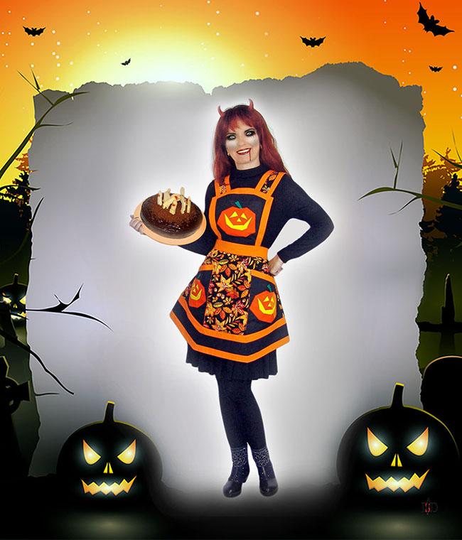 Vintage schürze Halloween