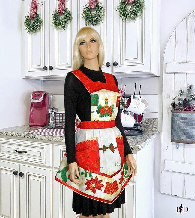 Vintage Küchenschürze Weihnachten