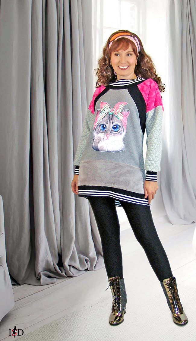 sweater 3d applikation patchwork