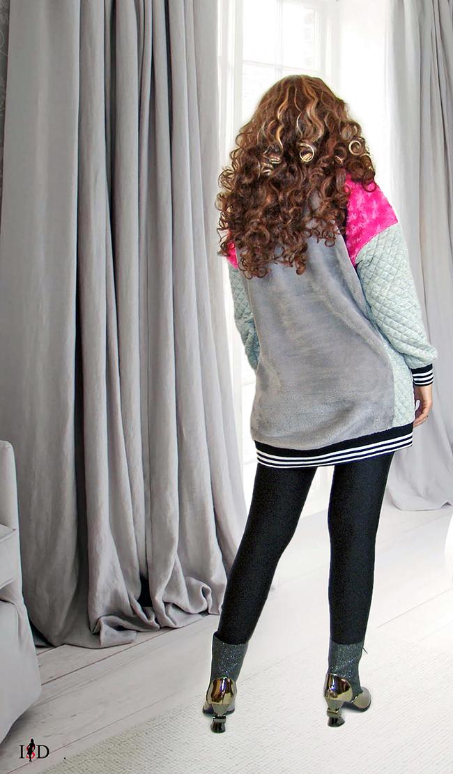3d applikation designer sweater patchwork look