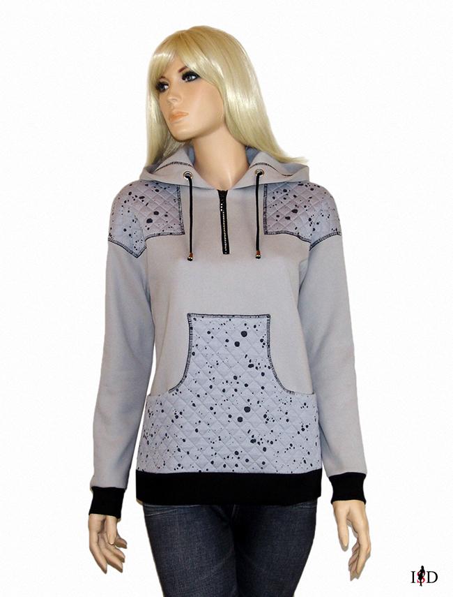 designer damen hoody patchwork
