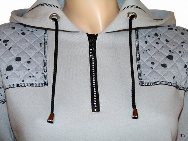 damen hoodie patchwork designer hoodie
