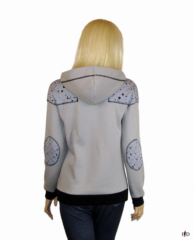 damen hoodie patchwork